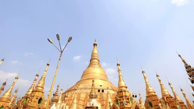 schwedagon pagoda - theravada stock videos & royalty-free footage