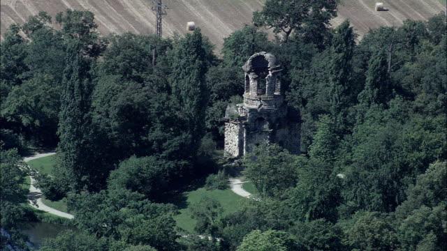 schwetzingen castle  - aerial view - baden-württemberg,  karlsruhe region,  rhein-neckar-kreis helicopter filming,  aerial video,  cineflex,  establishing shot,  germany - baden wurttemberg stock videos and b-roll footage