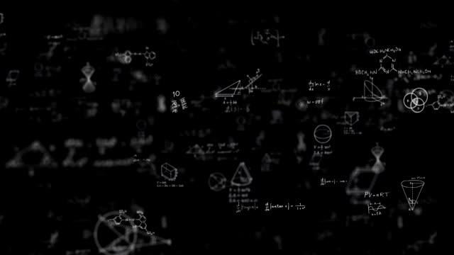 wissenschaft hintergrundschleife - trigonometrie stock-videos und b-roll-filmmaterial