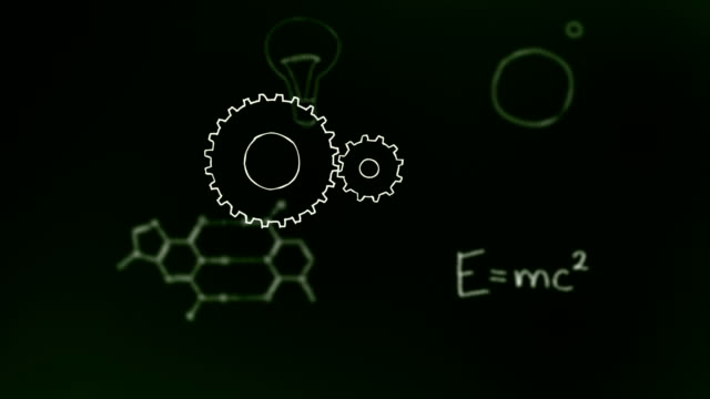 science blackboard - e=mc2 stock videos and b-roll footage