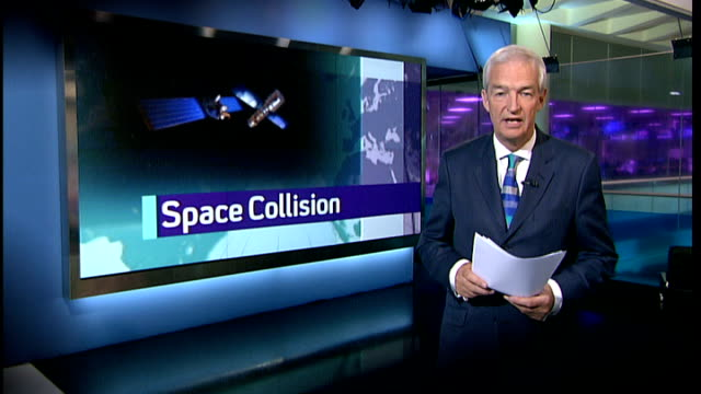 british engineers developing harpoon to clean up space junk lib excerpt from channel 4 news with anchor jon snow reporting on space collision - harpoon stock videos and b-roll footage