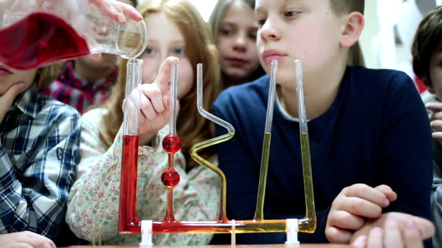 science class - junior high stock videos & royalty-free footage