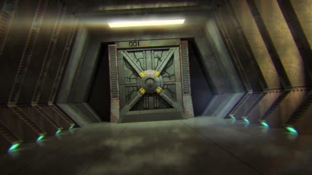 vídeos de stock, filmes e b-roll de portão de ficção científica - alienígena