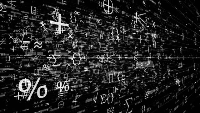 科学、計算、化学式 - パーセント記号点の映像素材/bロール