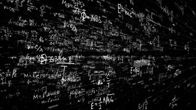wissenschaft, mathematik, chemie equations - physik stock-videos und b-roll-filmmaterial