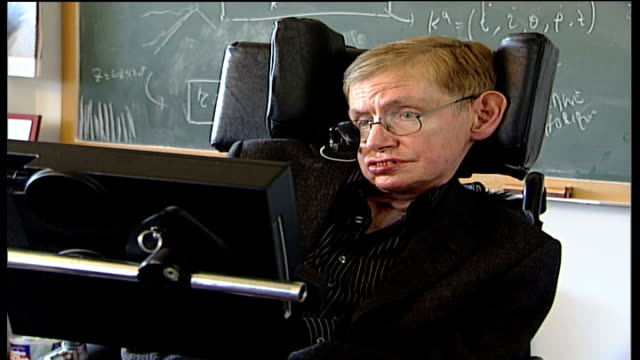 vidéos et rushes de stephen hawking 'end of the world' warning; cambridge: professor stephen hawking interview sot - i did this not as a prediction of doom but as a... - apocalypse