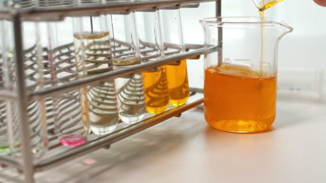 vídeos de stock e filmes b-roll de scientific experiment in laboratory - porta amostra