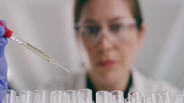 vídeos y material grabado en eventos de stock de la investigación científica es la columna vertebral de un sistema de salud fuerte - patólogo