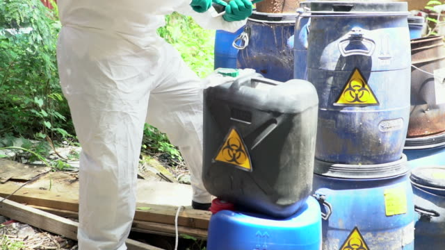 scientist analyze the chemical hazard - biology stock videos & royalty-free footage