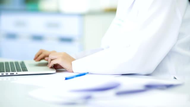 Scientist and bio lab experiment