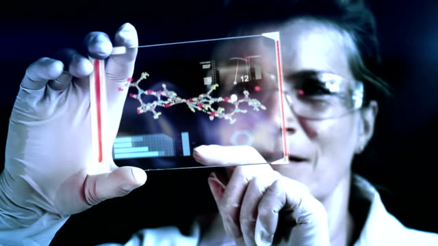 scientist classifying dna structure in a laboratory. - replication bubble stock videos and b-roll footage