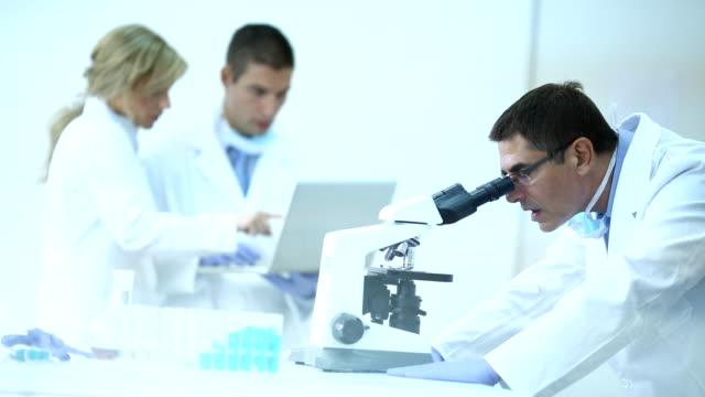 科学者にラボます。 - バイオテクノロジー点の映像素材/bロール