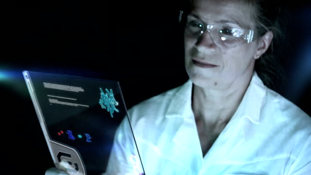 scientist is looking for practical solutions in the laboratory. - replication bubble stock videos and b-roll footage