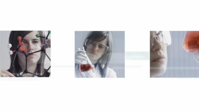 wissenschaftler montage - fortschritt stock-videos und b-roll-filmmaterial