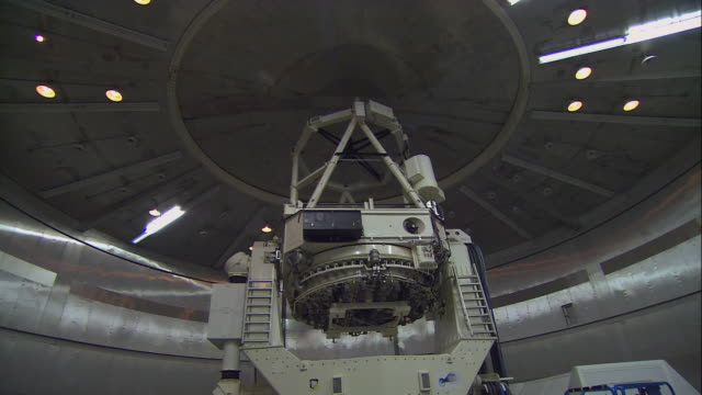 TU Scientist observing rotation of indoor telescope / United States