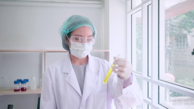 scientist or doctor test make alternative herb medicine with herbal the organic natural in the laboratory. oil capsule, natural organic skincare and cosmetic. - {{relatedsearchurl('capsule pipeline')}} stock videos and b-roll footage