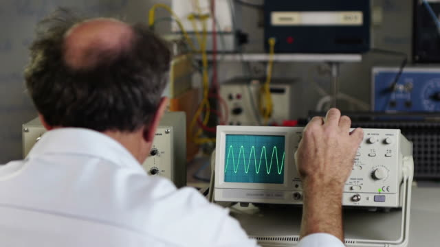 scientist - oscilloscope stock videos & royalty-free footage