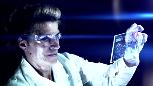 scientist working at the chemistry laboratory. - replication bubble stock videos and b-roll footage