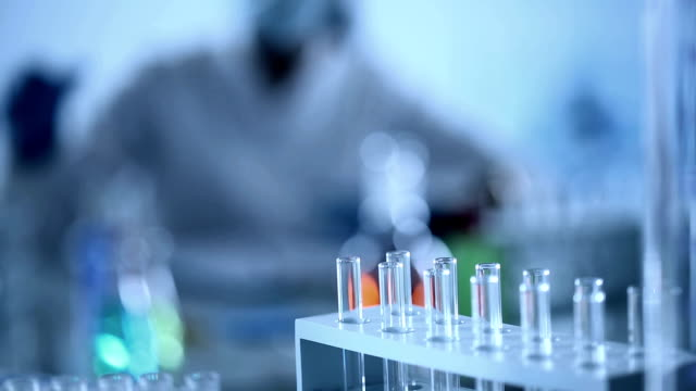 scientist working at the laboratory. - hoozone stock videos and b-roll footage