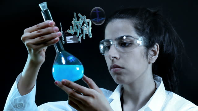 scientist working at the laboratory. - replication bubble stock videos and b-roll footage