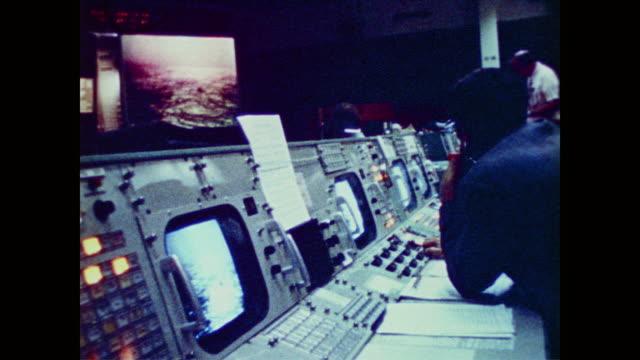 nasa scientists celebrate repair work of astronauts charles c conrad jr and dr joseph kerwin and the successful deployment of solar parasol to skylab - joseph conrad bildbanksvideor och videomaterial från bakom kulisserna