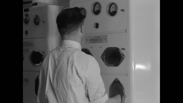 scientists check for radiation exposure in power station; 1956 - 1956 stock videos & royalty-free footage