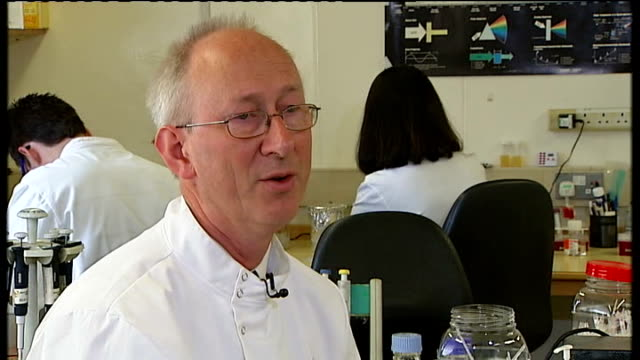 scientists fear resistance of superbugs to antibiotics england london int dr david livermore interview sot - antibiotic resistant stock videos and b-roll footage