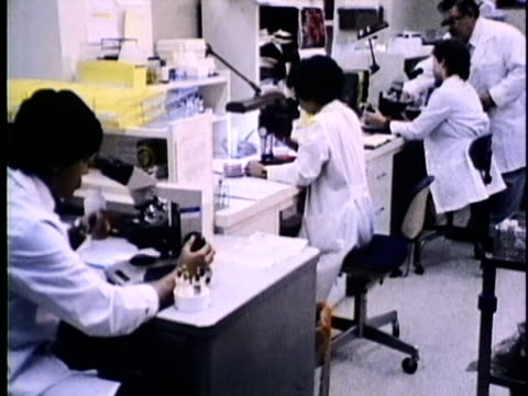 1986 zi ms scientists in lab, usa, audio - smoking issues stock videos & royalty-free footage