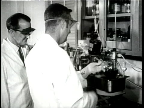 scientists trying to develop new drugs work in a laboratory. - piastra petri video stock e b–roll