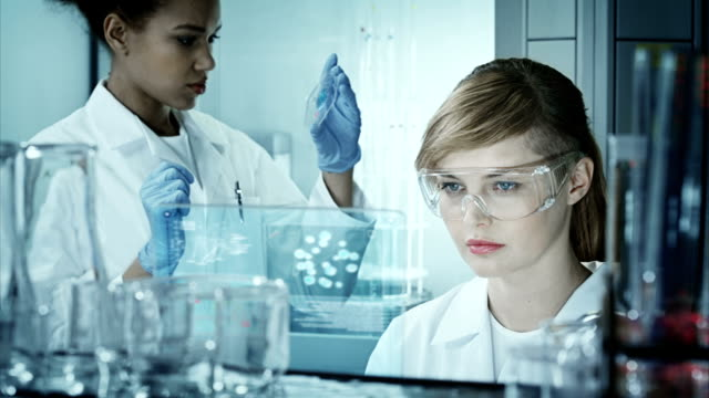 scientists working in a research laboratory - replication bubble stock videos and b-roll footage