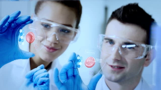 scientists working in a research laboratory - genetic testing stock videos and b-roll footage