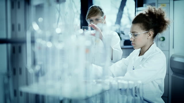 scientists working in a research laboratory - biochemistry stock videos & royalty-free footage