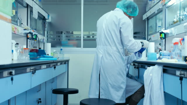 scientists working in the laboratory - genetic research stock videos & royalty-free footage