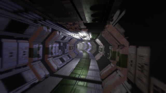 sf の廊下 - 宇宙船点の映像素材/bロール