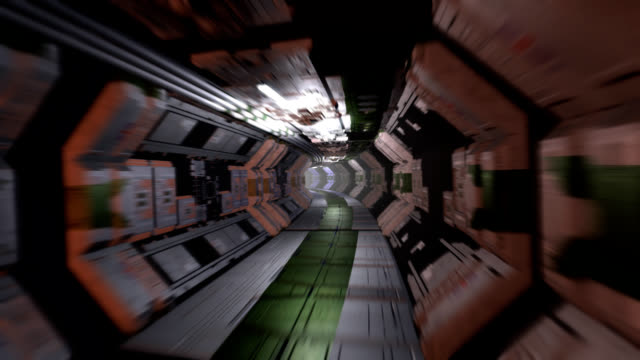 sci-fi corridor with doors - spaceship stock videos & royalty-free footage