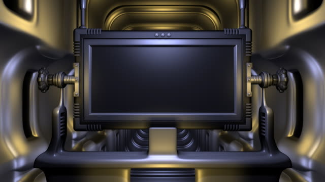 scifi monitor (loop) - liquid crystal display stock videos and b-roll footage