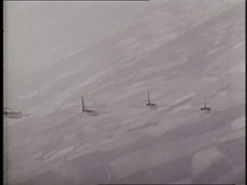 vidéos et rushes de scimatar jets take off from the hms hermes at sea. - royal navy