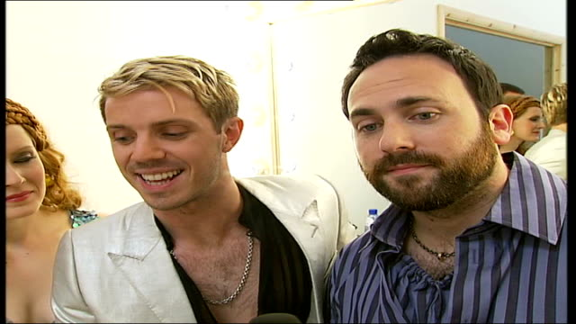 interview jake shears and babydaddy interview sot on album title 'tadah' - album title stock videos and b-roll footage