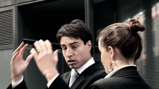 hd slow-motion: scolding businessman - spinning point of view stock videos & royalty-free footage