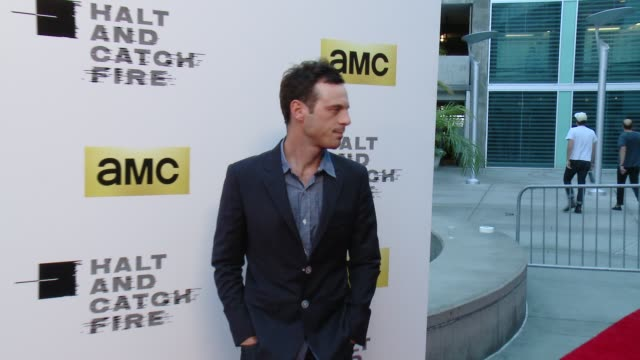 scoot mcnairy at amc's halt and catch fire los angeles premiere at arclight cinemas on may 21 2014 in hollywood california - arclight cinemas hollywood stock videos and b-roll footage