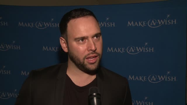 interview scooter braun on receiving the humanitarian award at 4th annual wishing well winter gala presented by makeawish greater los angeles in los... - wishing well stock videos & royalty-free footage