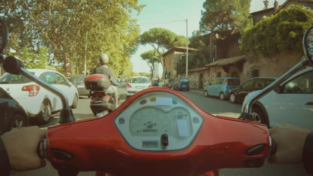 pov scooter riding: hyper lapse in the center of rome - rome italy stock videos & royalty-free footage