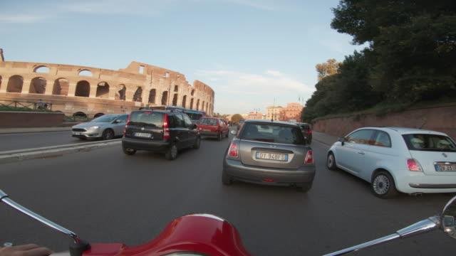 POV scooter riding in Rome