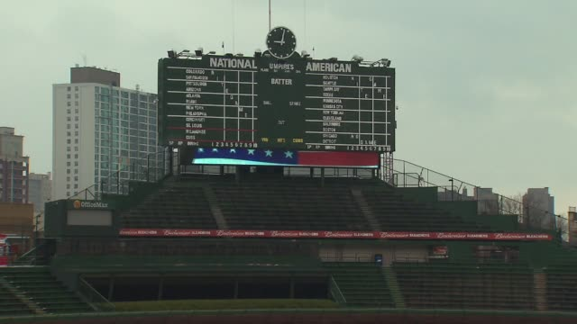 wgn score board at wrigley field at wrigley field on april 08 2013 in chicago illinois - scoreboard stock videos & royalty-free footage