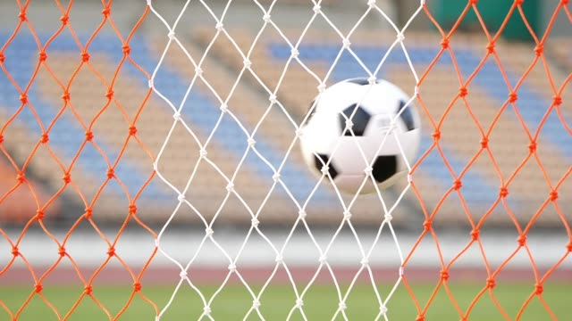 goal scored with soccer ball - soccer goal stock videos & royalty-free footage