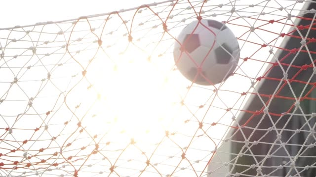 goal scored with soccer ball - goal stock videos & royalty-free footage