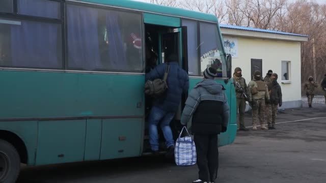 Scores of hostages were exchanged on December 27 2017 between the Kiev administration and proRussian separatists in eastern Ukraine Ukrainian...