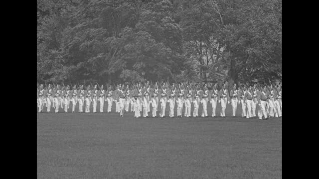 Scores of USMA cadets marching at West Point / Note exact month/day not known
