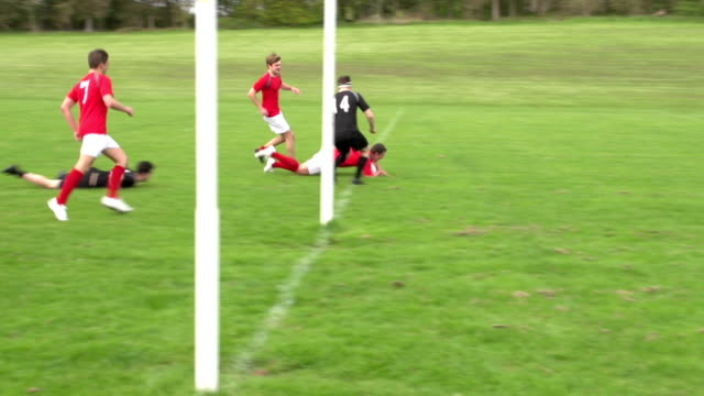 Scoring a try in Rugby match (Sport)