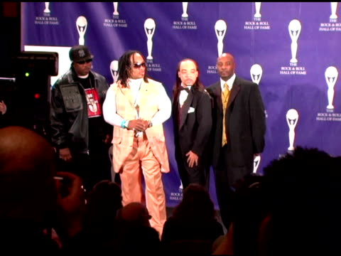 scorpio mele mel kid creole and rahiem of grandmaster flash and the furious five inductees discuss what their induction means to them the state of... - hall of fame stock videos and b-roll footage